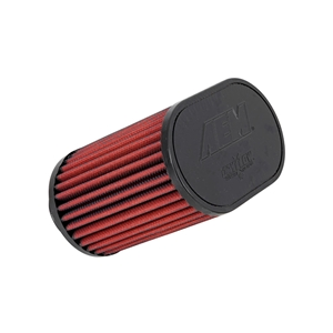 AEM DryFlow - 21-2201DK Oval Tapered Universal Air Filters - Flange Inside Dia. 2 in (51 mm) - Flange Length 0.75 in (19 mm)