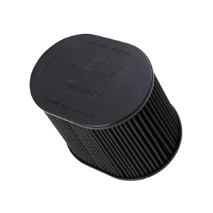 AEM DryFlow - 21-2259BF Oval Tapered Universal Air Filters - Flange Inside Dia. 4 in (102 mm) - Flange Length 1.5 in (38 mm)