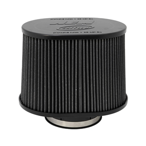 AEM DryFlow - 21-2277BF Oval Tapered Universal Air Filters - Flange Inside Dia. 5 in (127 mm) - Flange Length 1.5 in (38 mm)