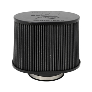 AEM DryFlow - 21-2278BF Oval Tapered Universal Air Filters - Flange Inside Dia. 5 in (127 mm) - Flange Length 1.5 in (38 mm)