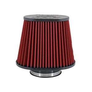 AEM DryFlow - 21-2258DK Oval Tapered Universal Air Filters - Flange Inside Dia. 5 in (127 mm) - Flange Length 1.5 in (38 mm)