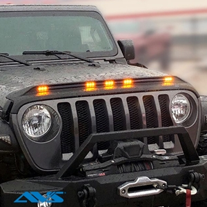 AVS Aeroskin LightShield™ Hood Protectors with Amber LED Marker Lights