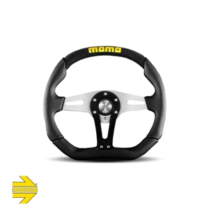 MOMO® TREK Steering Wheel - Black Suede Inserts