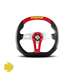 MOMO® TREK Steering Wheel - RED Suede Inserts