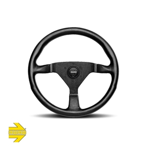 MOMO® MONTECARLO Steering Wheel - Black Leather with Black Spokes