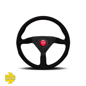 MOMO® MONTECARLO Steering Wheel - Black Alcantara® Leather