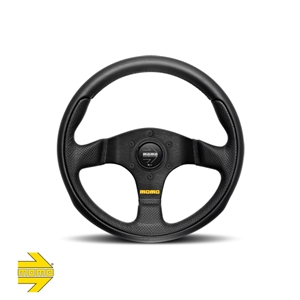MOMO® TEAM 300mm Steering Wheel - Black Leather with Airleather Inserts