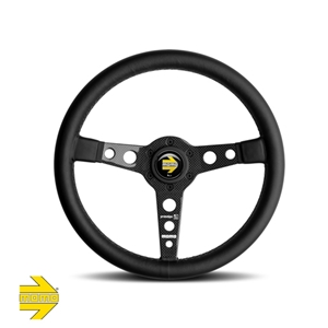 MOMO® PROTOTIPO 6C Steering Wheel - Black Leather with Carbon Fiber