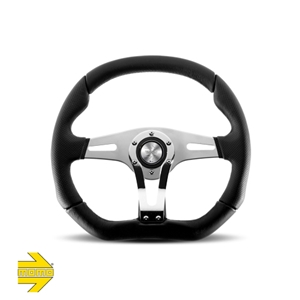 MOMO® TREK R Steering Wheel - Black Leather with Airleather Grip