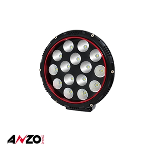 "Anzo® 8"" Round LED Light (RED BEZEL)"