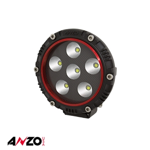 "Anzo® 4"" Round LED Light (RED BEZEL)"