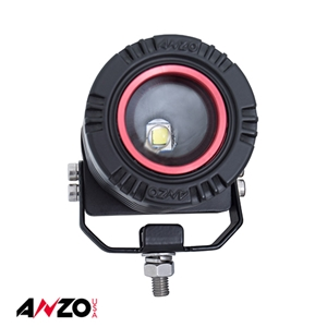 Anzo® Adjustable Round LED Light w/ Wire Harness