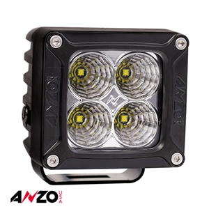 "Anzo® 3""x 3"" RUGGED HI-INTENSITY 5W L.E.D FLOOD LIGHT w/ HARNESS"