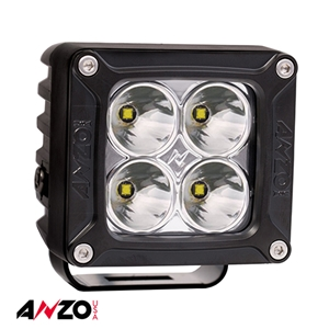 "Anzo® 3""x 3"" RUGGED HI-INTENSITY 5W L.E.D SPOT LIGHT w/ HARNESS"