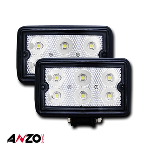 "Anzo® Rugged Vision 3""x 5"" High Power L.E.D Fog Light (Pair)"