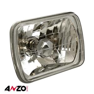 "Anzo® H4 7.5"" x 5.5"" RECTANGULAR UNIVERSAL HEADLIGHT DIAMOND CUT (Single)"