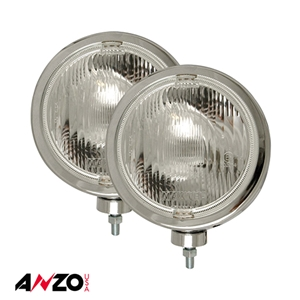 "Anzo® H3 8"" ROUND SLIMLINE OFF ROAD LIGHT CHROME (Pair)"