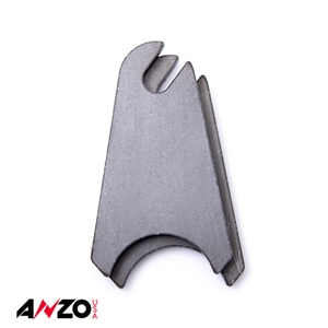 "Anzo® 1.5"" in. RADIUS SLOTTED RAW MOUNTING TAB 2PC"