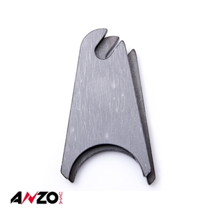 "Anzo® 1.75"" in. RADIUS SLOTTED RAW MOUNTING TAB 2PC"