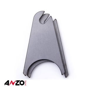 "Anzo® 2.0"" in. RADIUS SLOTTED RAW MOUNTING TAB 2PC"