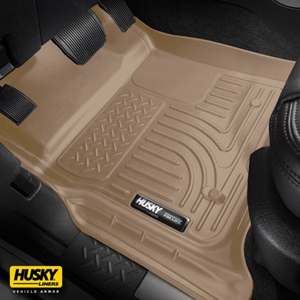 Husky Liners® WeatherBeater 99153 - Tan 1st & 2nd Row Floor Liners