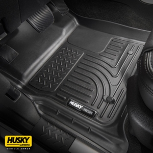 Husky Liners® WeatherBeater 99311 - Black 1st & 2nd Row Floor Liners