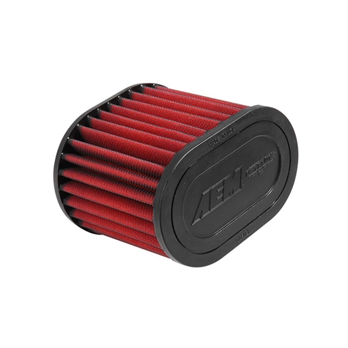 AEM DryFlow - 21-2127DK Oval Tapered Universal Air Filters - Flange Inside Dia. 2.75 in (70 mm) - Flange Length 0.75 in (19 mm)