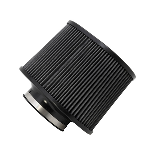 AEM DryFlow - 21-2267BF Oval Tapered Universal Air Filters - Flange Inside Dia. 4.5 in (114 mm) - Flange Length 1.5 in (38 mm)
