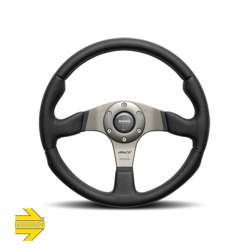 MOMO® RACE Series 350mm Steering Wheel - Leather with Airleather grip