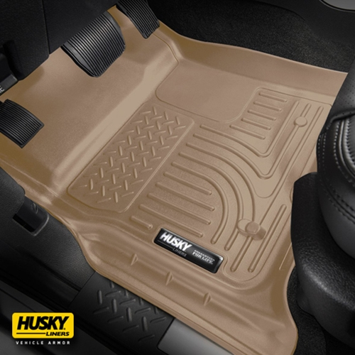 Husky Liners® WeatherBeater 98473 - Tan 1st & 2nd Row Floor Liners