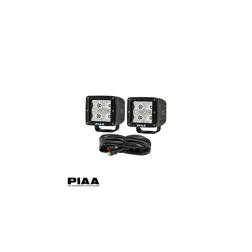 Piaa Quad Series Flood Beam Led Cube Lights W Harness Lp530 Wiring Show Picture 3